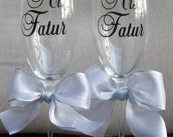 Personalized Wedding Champagne Flutes...Set of 2