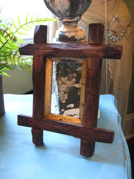 Antique Handcrafted Wooden Picture Frame