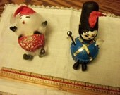 Two novelty Christmas ornaments, Cute as a Cupcake, vintage