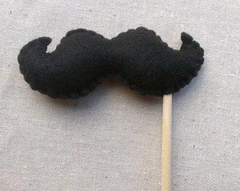 Felt Mustachio Mustache Photo Props Made To Order
