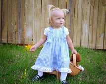 Sale - 15% Off Dorothy Halloween Party Costume, Blue Gingham Dress - Girls sizes 6-12 months thru 5