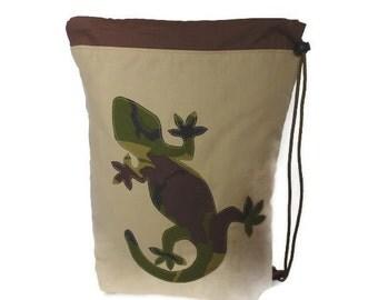 Camo Gecko drawstring / PE bag