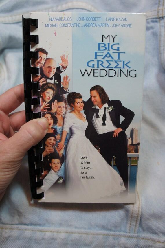 vintage recycled my BIG fat GREEK WEDDING vhs notebook