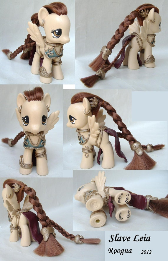 Custom My Little Pony Slave Leia Star Wars pegasus