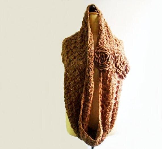 Crochet PATTERN Cowl, Crochet Infinity Loop Scarf Pattern, Circle Scarf Crochet Pattern, 50