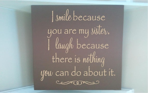 Smile Because Quotes Tumblr: Personalized Wooden Sign W Vinyl Quote I Smile Because You Are