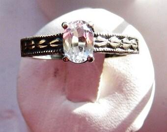 Custom Gemstone Ring White Topaz blue pink Iolite purple amethyst grey labradorite red garnet handmade fine jewelry size 4 5 6 7 8 9 10 half