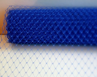 Royal Blue Sapphire  Veil Netting - Russian or French Net Birdcage Material, Half or Full 1 Yard