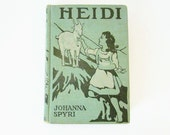 Antique Childrens Book HEIDI A Childs Story Of Life In The Alps Johanna Spyri