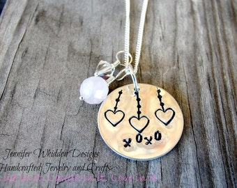 XOXO Necklace - Love Necklace - Sterling Silver Necklace - Personalized Necklace - Custom Necklace - Gifts for her