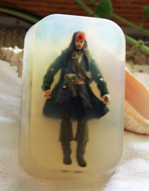 Jack Sparrow from Pirates of the Caribbean Action Figure in Soap