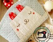 Smiling Rabbit Makeup Case PDF Sewing Pattern