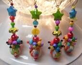 Colorful Christmas Dangles 4pc
