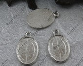 12 pcs of 15x23mm Antique Silver pendants base findings Oval Cabochon size 13x17mm,Findings beads,blank pendants findings