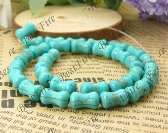 8x13mm bamboo joint Turquoise bead,loose blue beads, Turquoise beads strands