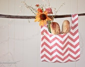 Coral Chevron Market Bag