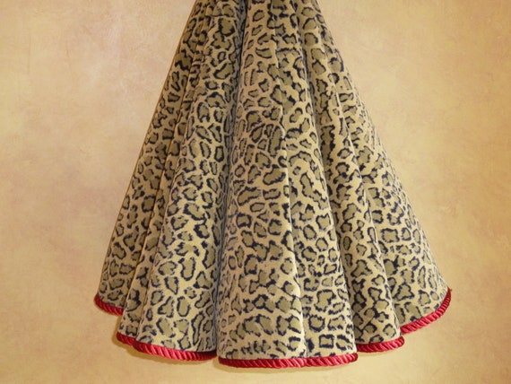 Leopard high end velour christmas tree skirt by