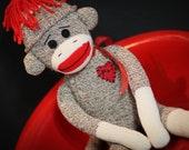 The Original Red Heel Sock Monkey Plush