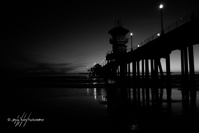 Beach Pier Drawing The Huntington Beach Pier