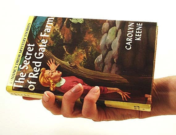 "Nancy Drew, Womans Wallet, Book clutch, Book purse, ""Secret of Red Gate Farm"""