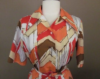 Abstract Design Graff Blouse / Tunic / Mini Dress