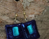 Captiva Island fused glass earrings