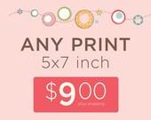 Any 5x7 inch Print, 9.00