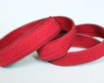 10 yds Colored Elastic,  Red Half Inch Flat Braided Elastic, Sewing Supplies,  Costuming Supplies, elas001/10