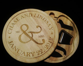 5 piece Personalized Cutting Board/Cheesetray - Custom Engraved  - Monogrammed -  Wedding Gift, Anniversary Gift - Housewarming