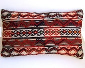 Turkish - Anatolian wool kilim Pillow Cover - rug