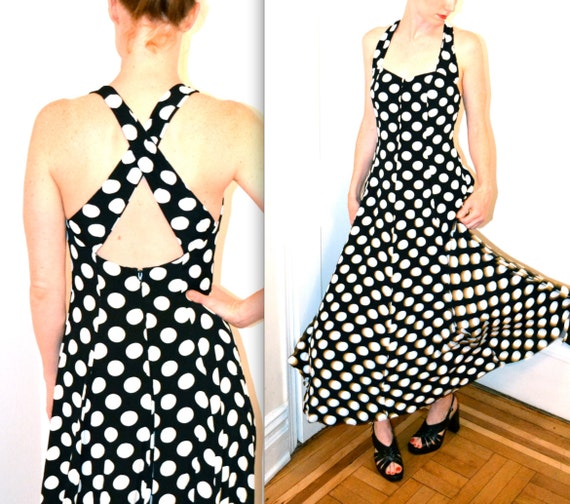1990s Vintage Polka Dot Dress, Size S from Henri Bendels NYC