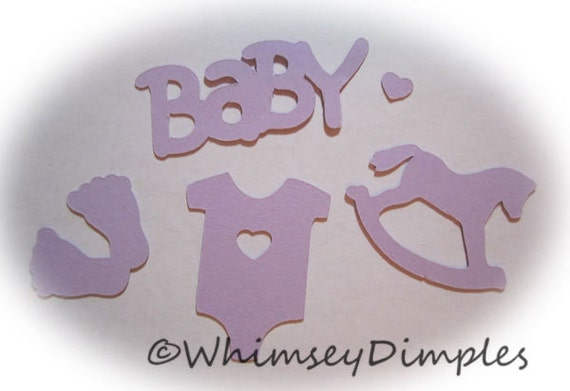 Baby Shower Confetti Mix, Rocking Horse, Onesie, Feet, Color Options