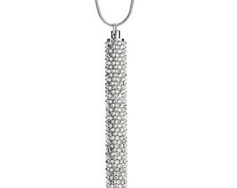 Petite Crystallized Necklace Pen Fully Embellished With Silver Shade Swarovski Crystals