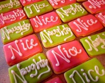 Naughty and Nice word Cookies