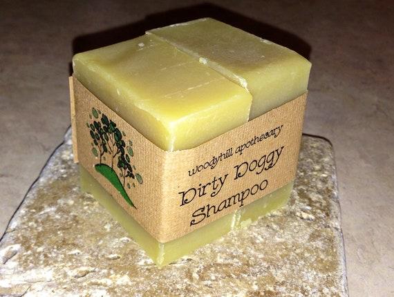 Dirty Doggy Neem Oil Shampoo bars Rosemary Mint 2-1.65 oz Vegan, repells fleas and ticks, dog soap