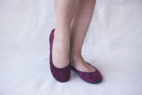 Simply Me in Mauve - Handmade Leather ballet flat shoes - CUSTOM FIT