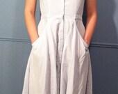 90s Picnic Pale Denim Dress