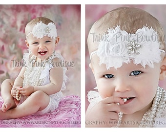 White petti lace romper and headband SET, petti romper,baby headband, white baby headband and lace petti romper,lace romper,petti romper.