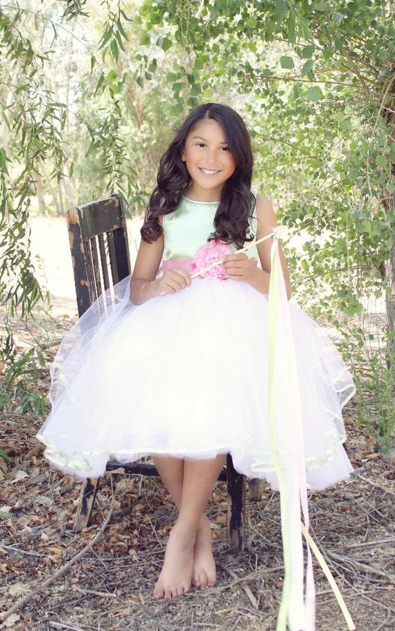 Items similar to Tulle Flower Girl Dress on Etsy - photo #1