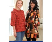 Womens Mod Top & Tunic Sewing Pattern : Indygo Junction - FREE SHIPPING