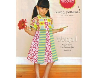 Abigail Girls Dress & Top Sewing Pattern by Patty Young of Modkid - Girls Dress Pattern - Childrens Sewing Pattern