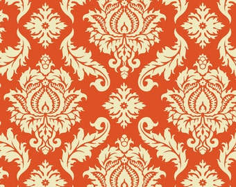 Damask in Saffron  JD43 - Joel Dewberry - AVIARY 2 - Free Spirit Fabric - By the Yard