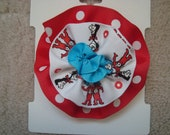 Dr. Seuss Thing One Thing Two Girls Hair Clips/Hair Bow/Hair Bow Clip