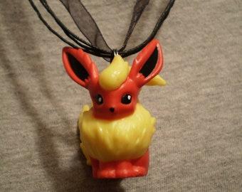 Pokemon Flareon Figure Necklace