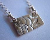 Little Magnolia Sterling Silver Necklace