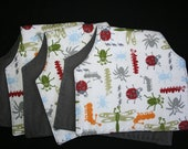 Bugs and Critters Burp Cloths