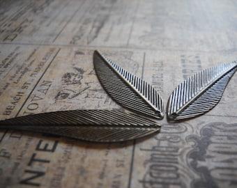 Wing Pendants Charms-Leaf Pendants-Antiqued Bronze-42mm-20pcs