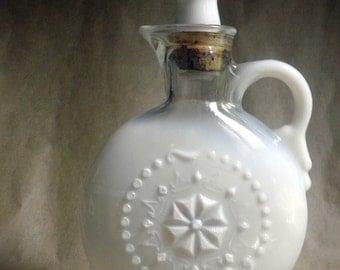 1957 Jim Beam Collector's Decanter /  Bottle, milk glass