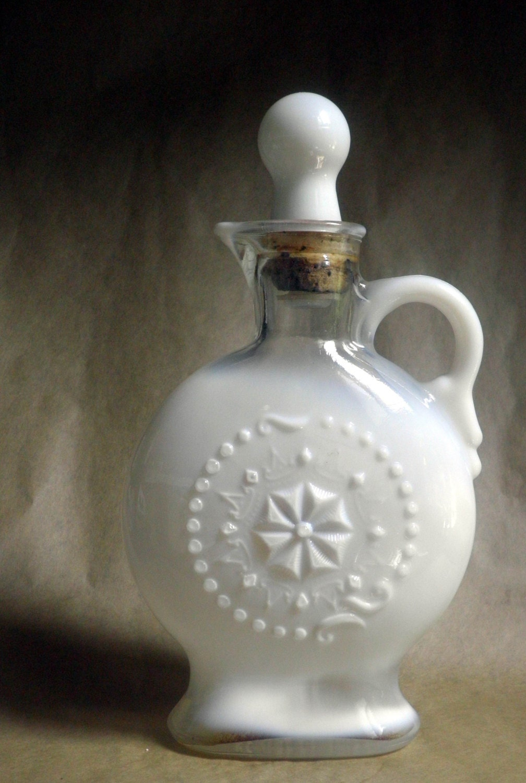 1957 Jim Beam Collector S Decanter Bottle Milk Glass