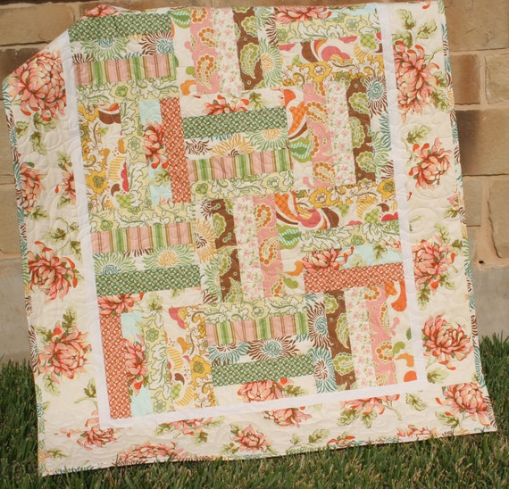 Shabby Chic Quilt Baby Girl Bedding Nursery Bedding Fresh Cut